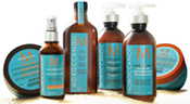 Moroccan Oil Products are available for purchase at Harrod's Salon